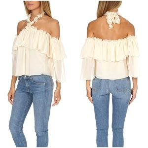 "MISA Los Angeles ""Galle"" chiffon top  NWT XS"